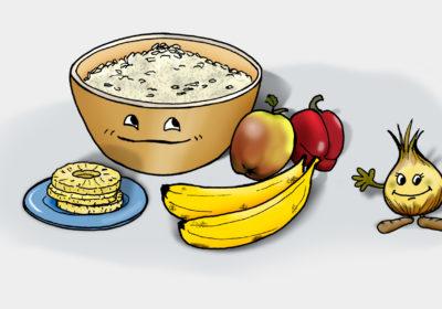 Zutaten für den Reissalat. (Quelle: Angela Richter)