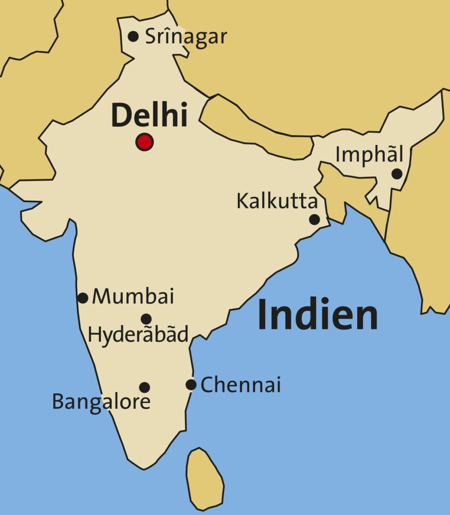 Indien-Landkarte