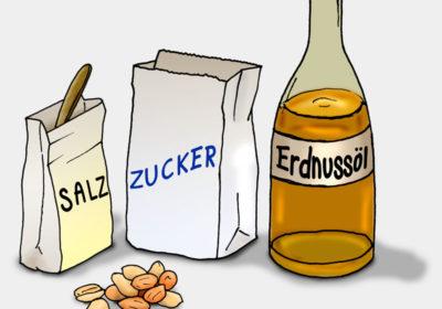 Illustration Zutaten für Erdnussbutter (Quelle: Angela Richter)