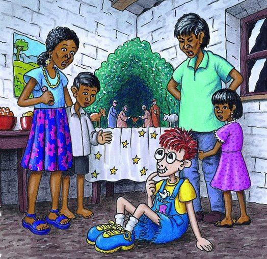 Robinson im Haus einer peruanischen Familie. (Quelle: Peter Laux)