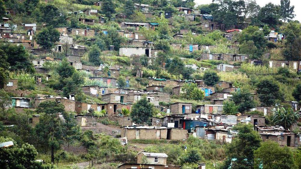 Ein Township in Südafrika. (Quelle: Frank Peterschröder)