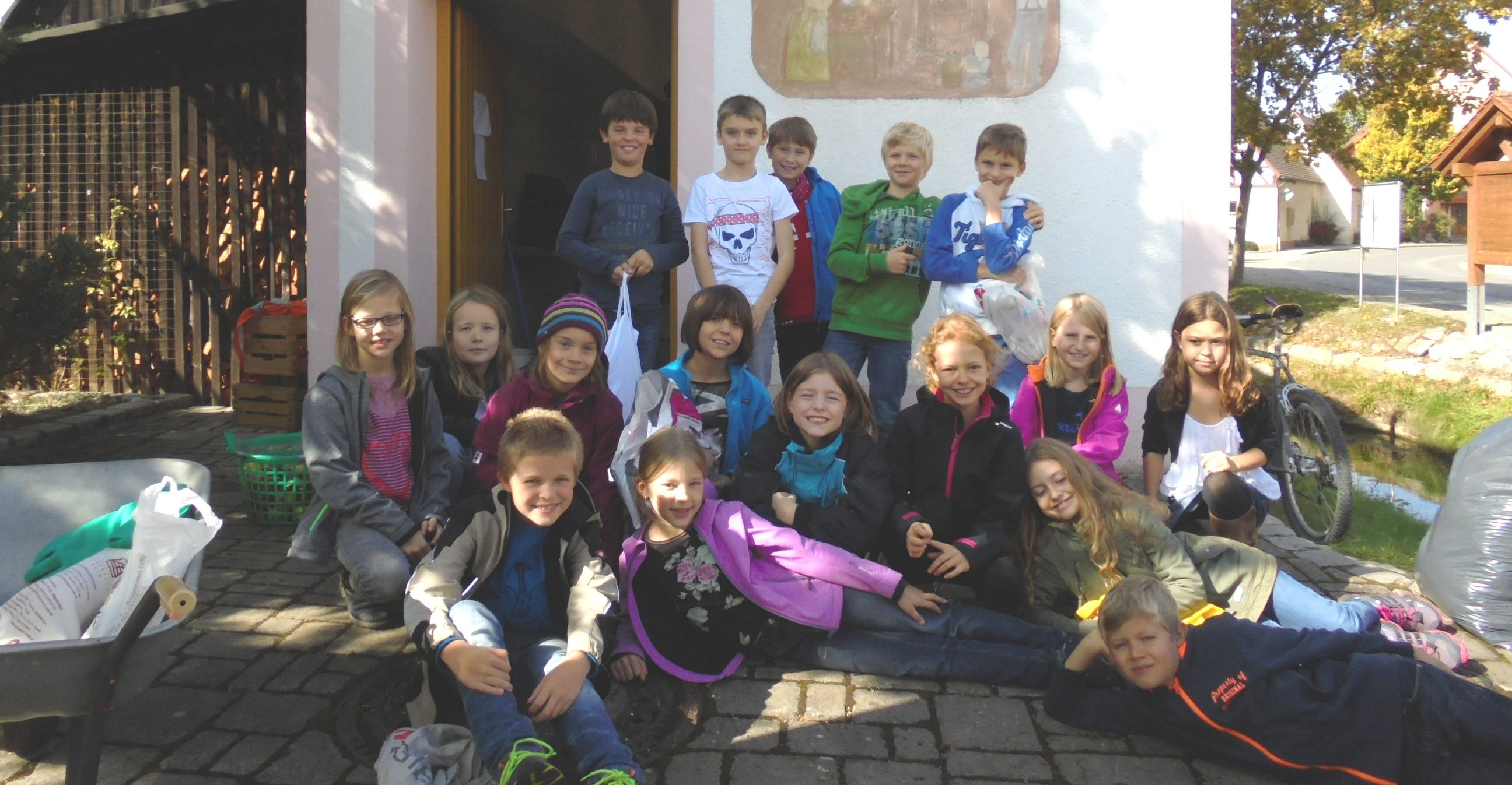 Die Klasse 4b der Grundschule Offenhausen. (Quelle: privat)